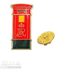 Red Post Box Metal Lapel Pin Badge