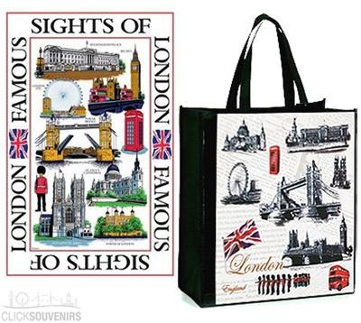Sights of London Shopping Bag and Tea Towel Gift Set