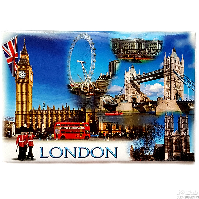 London Sights by Day Picture Magnet