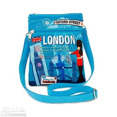 London Souvenir Scrapbook Passport Travel Bag