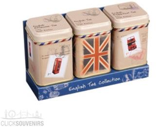 Travel Collection London Tea Tins Set