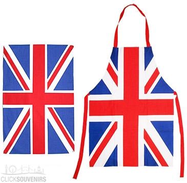 Union Jack Apron and Tea Towel Gift Set