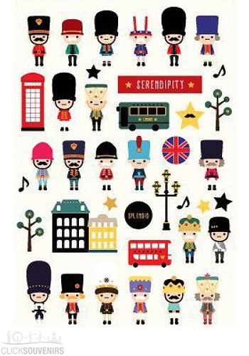 London Style Stickers Set