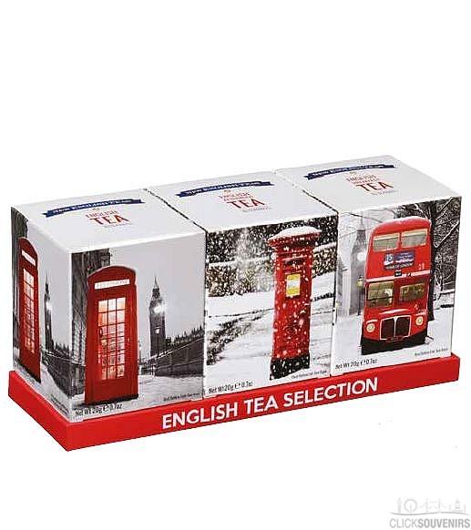 Christmas London Souvenir Tea Selection with 30 Teabags