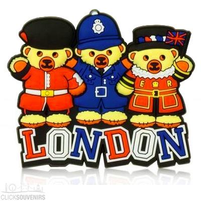 London Teddy Bears Magnet