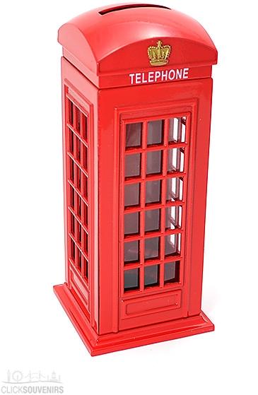 Diecast Metal British Telephone Box Money Box
