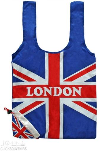 Union Jack Strawberry Shopping Bag