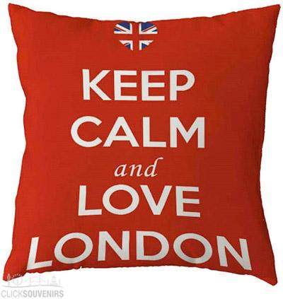 Keep Calm and Love London Cushion Cover