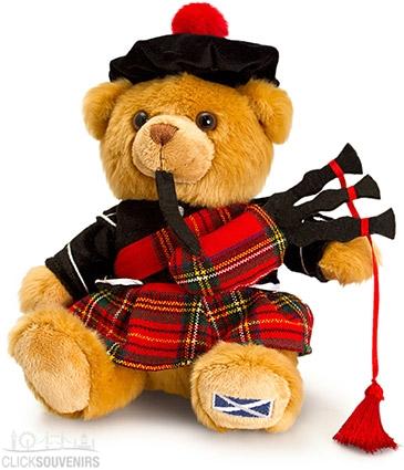 19cm Medium Scottish Piper Teddy Bear