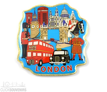 Metal Absolutely Everything London Magnet