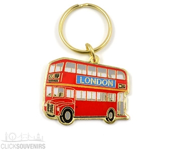 Souvenir Metal Bus Keyring