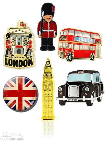 Set of Six London Souvenir Fridge Magnets