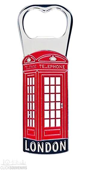 Metal Telephone Box Bottle Opener Magnet
