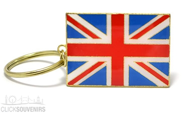 British Metal Union Jack Keyring