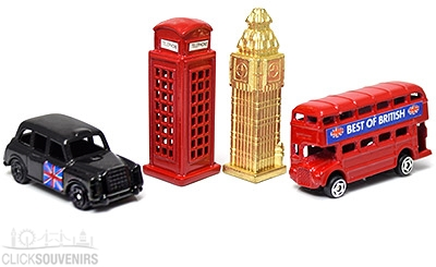 Set of Four Diecast Metal Miniature London Models