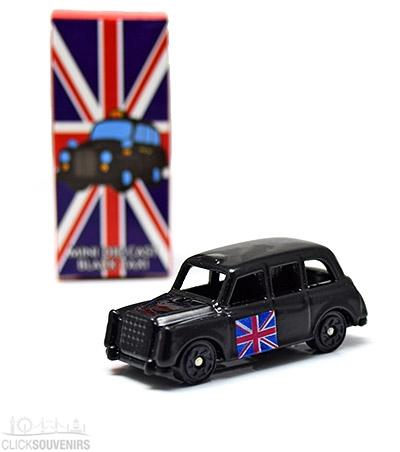 Miniature Black Taxi Model