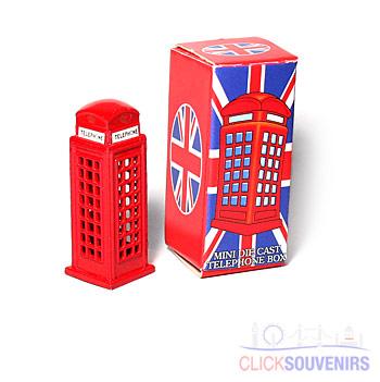 Miniature Phone Box Metal Model