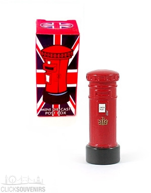 Miniature Red Post Box Model