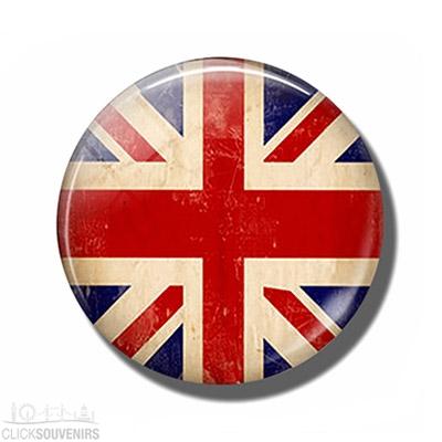 Pebble Look Vintage Union Jack Magnet