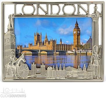 Pewter London Photo Frame