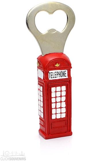 Resin Telephone Box Bottle Opener Magnet