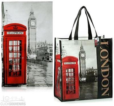 Photographic London Shopping Bag and Tea Towel Set