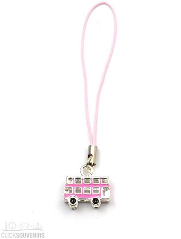 Pink Bus Phone Charm