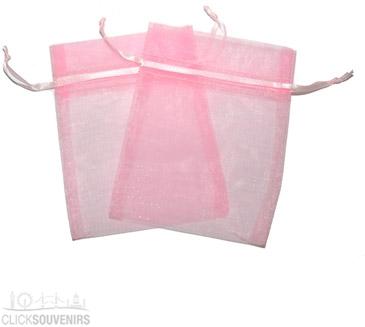 Pink Organza Gift Bag 9 x 7cm