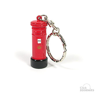 Diecast Metal Post Box Keyring