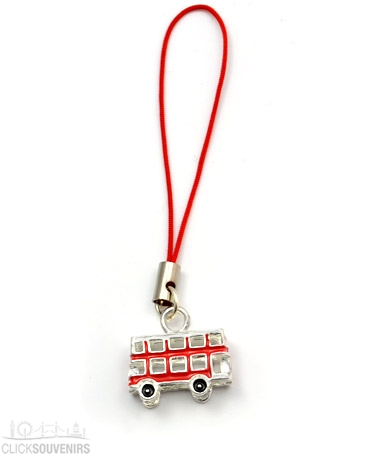 Red Bus Phone Charm