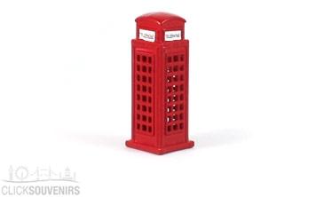 Red Die Cast Metal Telephone Box Magnet