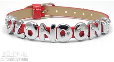 Red Love London Diamante Letters Bracelet
