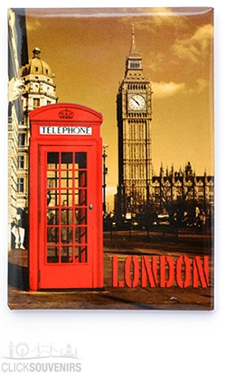 Red Telephone Box by Big Ben Picture Magnet