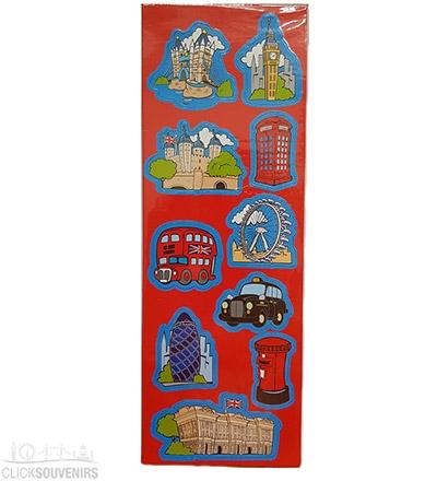 Set of Cartoon London Souvenir Magnets
