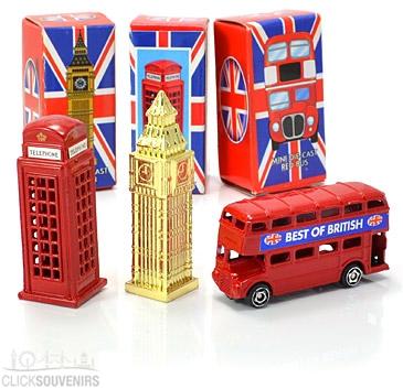Gift Set of Three Diecast Metal Mini London Models