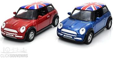 Gift Set of Two Die Cast Metal Mini Cooper Model Cars