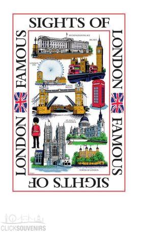 London Sights Cotton Tea Towel