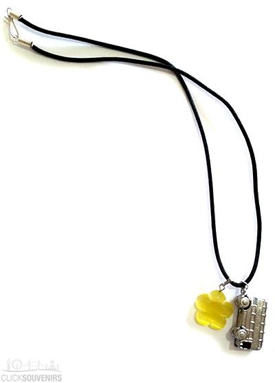Silver Bus Necklace