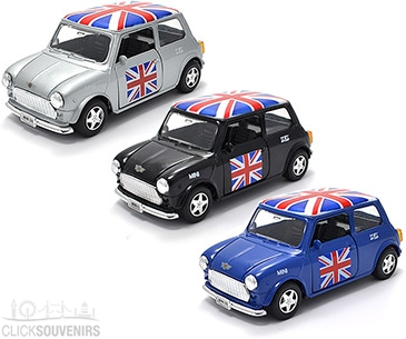 Gift Set 3 Union Jack Mini Cooper Model Cars