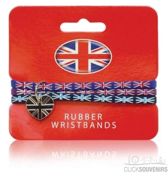 Union Jack Wristbands with Charm