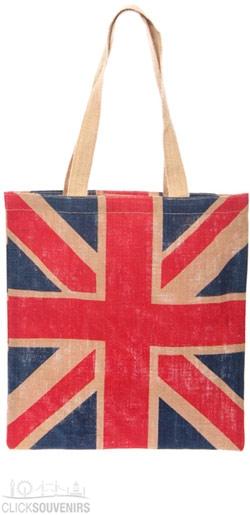 UK Union Jack Jute Bag