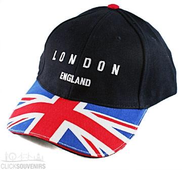 London England Souvenir Union Jack Baseball Cap