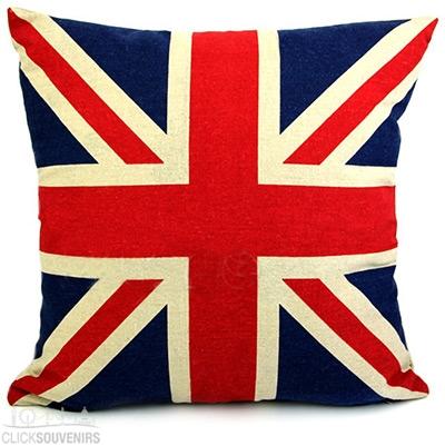 Linen Union Jack Cushion Cover