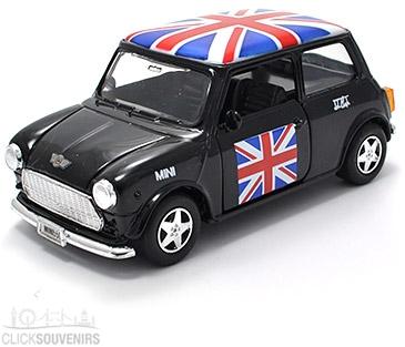 Pullback Black Union Jack Mini Cooper Model Car