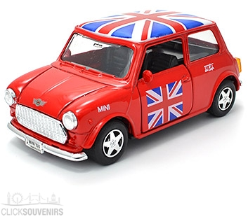 Pullback Red Union Jack Mini Cooper Model Car