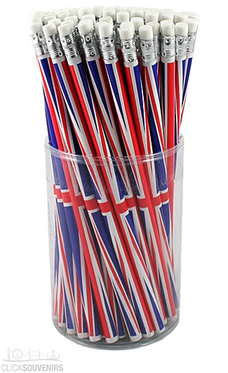 72 Union Jack Pencils
