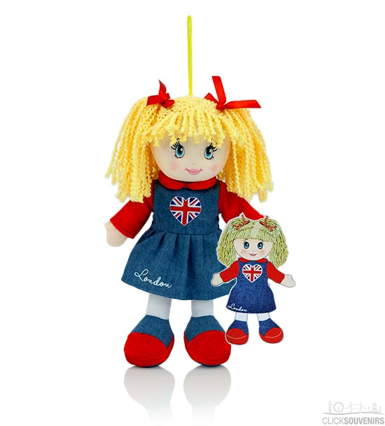 Union Jack London Rag Doll