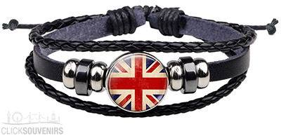 Union Jack Snap Button Bracelet