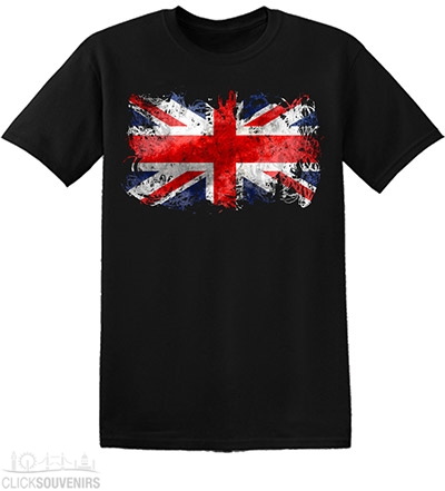 Childrens Abstract Union Jack T Shirt