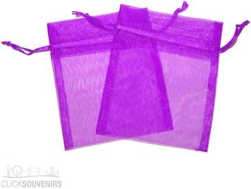 Violet Organza Gift Bag 9 x 7cm